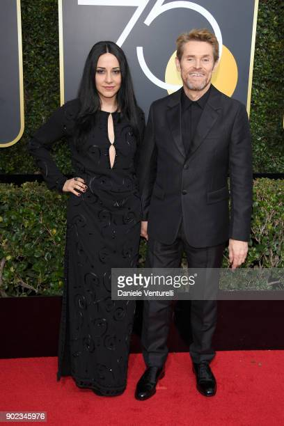 Actor/Director Giada Colagrande and actor Willem Dafoe attend The 75th Annual Golden Globe Awards at The Beverly Hilton Hotel on January 7 2018 in...