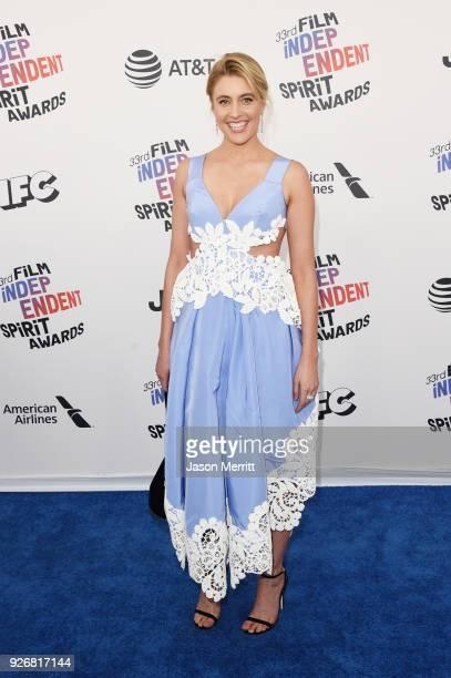 Actor/director Greta Gerwig attends the 2018 Film Independent Spirit Awards on March 3, 2018 in Santa Monica, California.