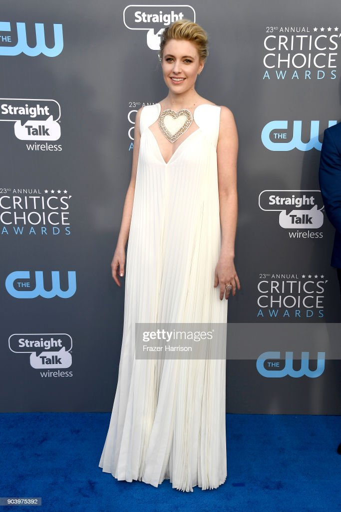 Actor/director Greta Gerwig attends The 23rd Annual Critics' Choice Awards at Barker Hangar on January 11, 2018 in Santa Monica, California.