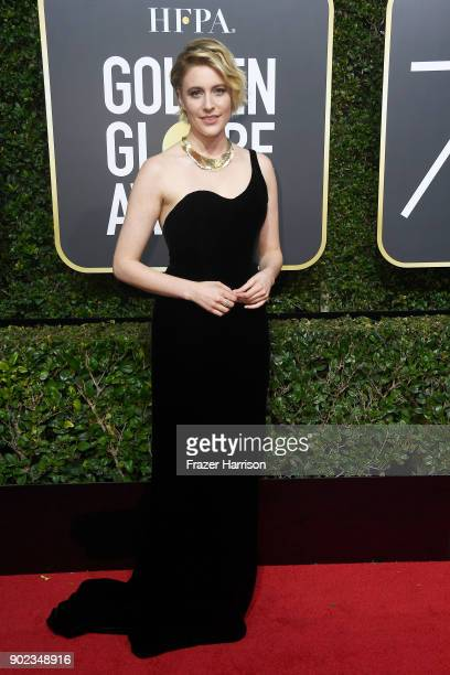 Actor/director Greta Gerwig attends The 75th Annual Golden Globe Awards at The Beverly Hilton Hotel on January 7 2018 in Beverly Hills California