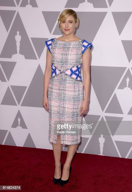 Actor/director Greta Gerwig attends the 90th Annual Academy Awards Nominee Luncheon at The Beverly Hilton Hotel on February 5 2018 in Beverly Hills...
