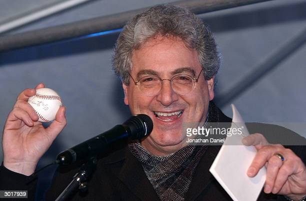 Actor/Director Harold Ramis emcees an auction to benefit the Juvenile Diabetes Research Foundation before the ceremony to destroy the cursed Chicago...