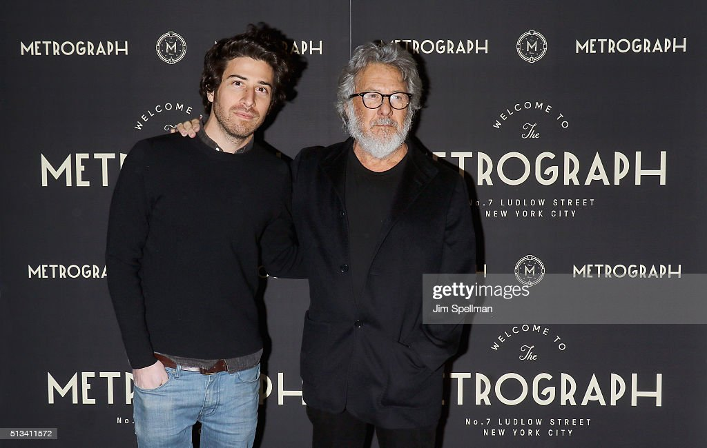 Actor/director Jake Hoffman and actor Dustin Hoffman attend the Metrograph opening night at Metrograph on March 2, 2016 in New York City.