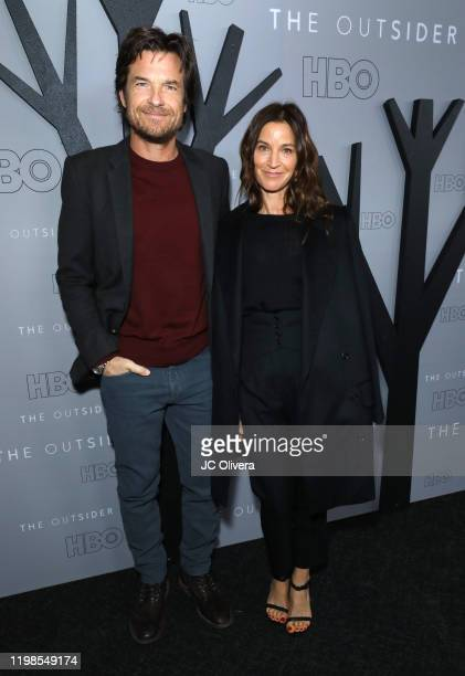 Actor/Director Jason Bateman and Amanda Anka attend the premiere of HBO's The Outsider at DGA Theater on January 09 2020 in Los Angeles California