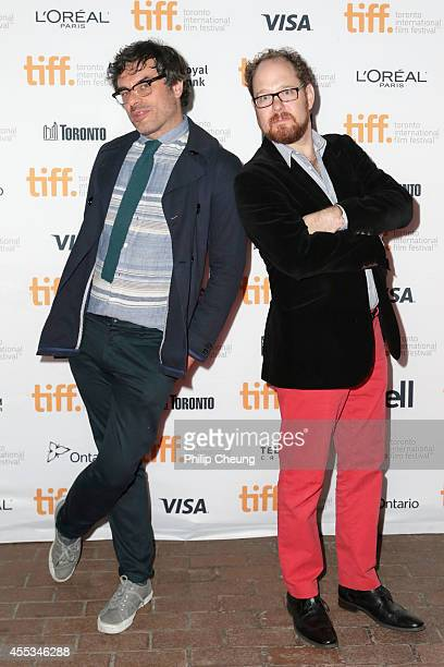 """Actor/director Jemaine Clement and TIFF programmer Colin Geddes attend the """"What We Do In The Shadows"""" premiere during the 2014 Toronto International..."""