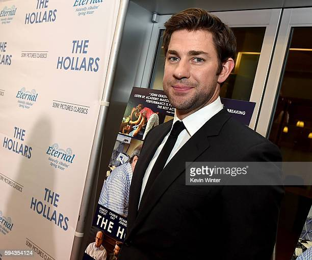 """Actor/director John Krasinski arrives at the premiere of Sony Pictures Classics' """"The Hollars"""" at the Linwood Dunn Theatre on August 22, 2016 in Los..."""