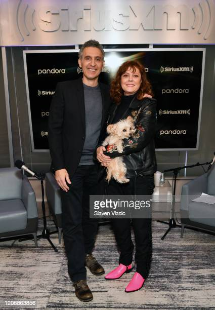 Actor/director John Turturro and actress Susan Sarandon visit EW channel at SiriusXM Studios to discuss crime comedy film The Jesus Rolls on February...