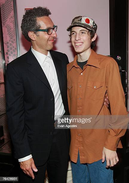 Actor/director John Turturro and his son actor Amedeo Turturro attend the 'Romance Cigarettes' screening after party at Agent Provocateur August 30...