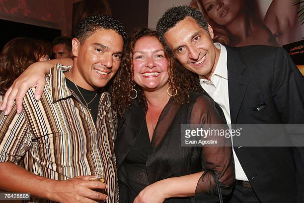 Actor/director John Turturro poses with actor brother Nicholas Turturro and cousin actress Aida Turturro at the 'Romance Cigarettes' screening after...
