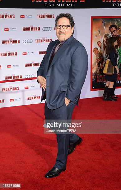 Actor/director Jon Favreau attends the premiere of Walt Disney Pictures' Iron Man 3 at the El Capitan Theatre on April 24 2013 in Hollywood California