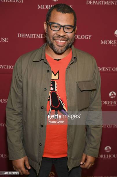 Actor/director Jordan Peele attends 'Get Out' QA at Morehouse College on February 22 2017 in Atlanta Georgia