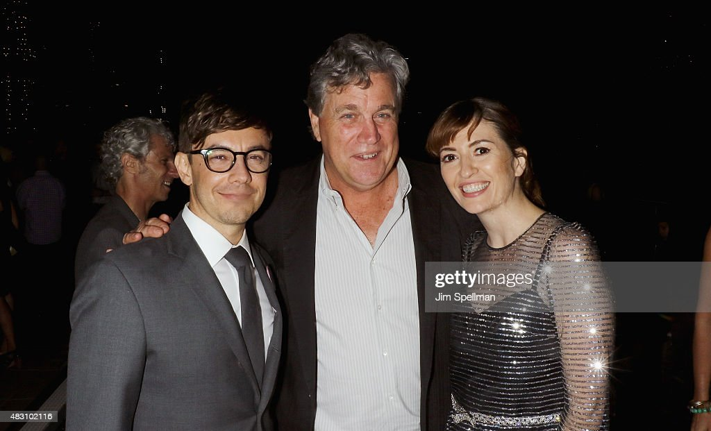Actor/director Jorma Taccone, co-president and co-founder of Sony Pictures Classics Tom Bernard and director Marielle Heller attend the after party for the screening of Sony Pictures Classics 'The Diary Of A Teenage Girl' hosed by The Cinema Society at Jimmy At The James Hotel on August 5, 2015 in New York City.