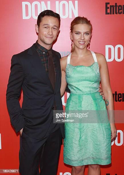 Actor/director Joseph GordonLevitt and actress Scarlett Johansson attend Don Jon New York Premiere at SVA Theater on September 12 2013 in New York...