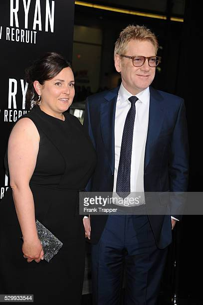 "Actor/director Kenneth Branagh and guest Lindsay Brunnock arrive at the premiere of ""Jack Ryan: Shadow Recruit"" held at TCL Chinese Theater in..."