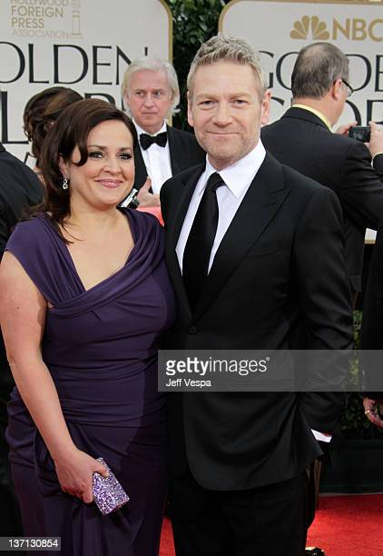 Actor/director Kenneth Branagh and his wife Lindsay Brunnock arrive at the 69th Annual Golden Globe Awards held at the Beverly Hilton Hotel on...