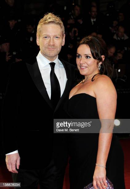 Actor/Director Kenneth Branagh and Lindsay Brunnock arrive at the Orange British Academy Film Awards 2012 at The Royal Opera House on February 12...