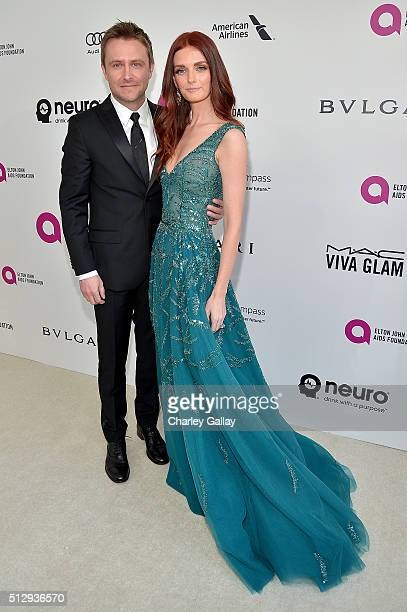 Actor/director Kevin Connolly and model Lydia Hearst attend Neuro at the 24th Annual Elton John AIDS Foundation's Oscar Viewing Party at The City of...
