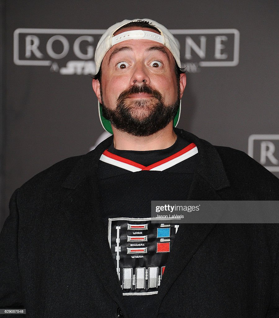 Actor/director Kevin Smith attends the premiere of 'Rogue One: A Star Wars Story' at the Pantages Theatre on December 10, 2016 in Hollywood, California.