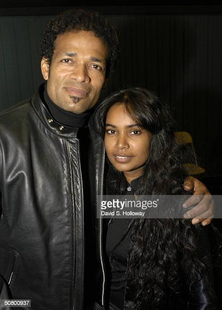 Actor/Director Mario Van Peebles and wife Chitra Van Peebles attend during the Tribeca Film Festival Sony Filmmakers Seminar on May 4 2004 in New...