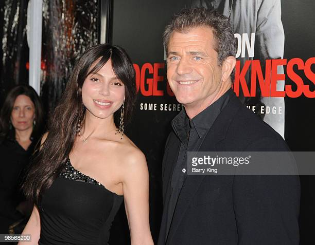 Actor/director Mel Gibson and Oksana Grigorieva arrive at the Los Angeles Premiere 'Edge Of Darkness' at Grauman's Chinese Theatre on January 26 2010...