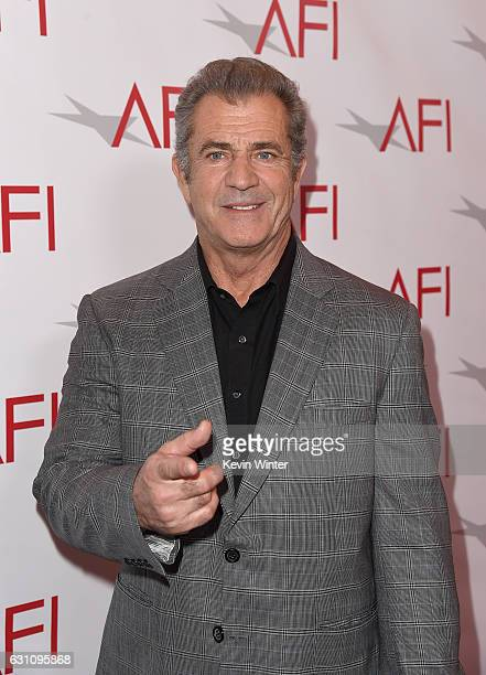Actor/director Mel Gibson attends the 17th annual AFI Awards at Four Seasons Los Angeles at Beverly Hills on January 6 2017 in Los Angeles California