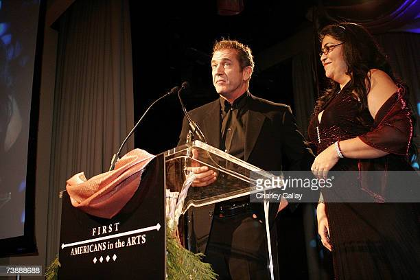 ActorDirector Mel Gibson receives a Trustee Award for the making of his film 'Apocalypto' at the 15th Annual First Americans in the Arts Awards...