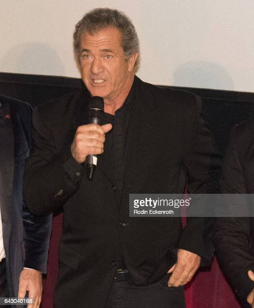 Actor/Director Mel Gibson speaks onstage at the 12th Edition Of The Los Angeles Italia Film Fashion And Art Fest at TCL Chinese 6 Theatres on...