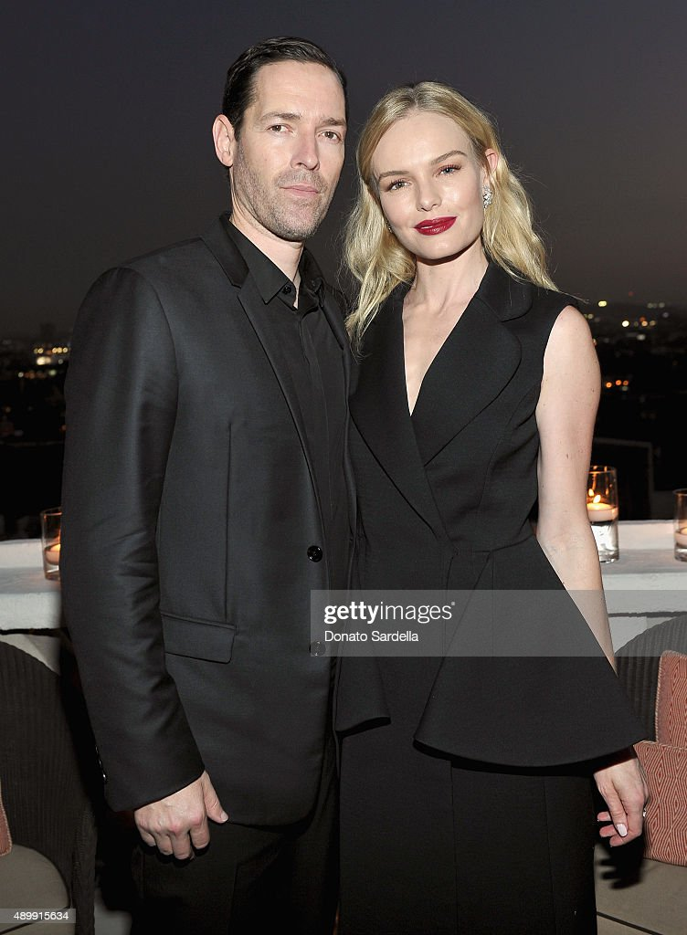 Actor/director Michael Polish (L) and actress Kate Bosworth attend a cocktail event hosted by Dior Homme's Kris Van Assche at Chateau Marmont on September 24, 2015 in Los Angeles, California.