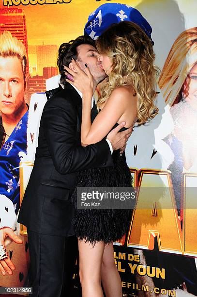 Actor/director Michael Youn and actress Isabelle Funaro attend the 'Fatal' Paris Premiere at Le Grand Rex on June 14 2010 in Paris France