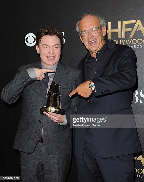Actor/director Mike Myers and Producer Shep Gordon pose in the press room during the 18th Annual Hollywood Film Awards at The Palladium on November...