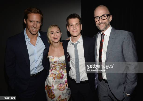 Actor/director Nat Faxon actors AnnaSophia Robb and Liam James and actor director Jim Rash attend CW Network's 2013 Young Hollywood Awards presented...