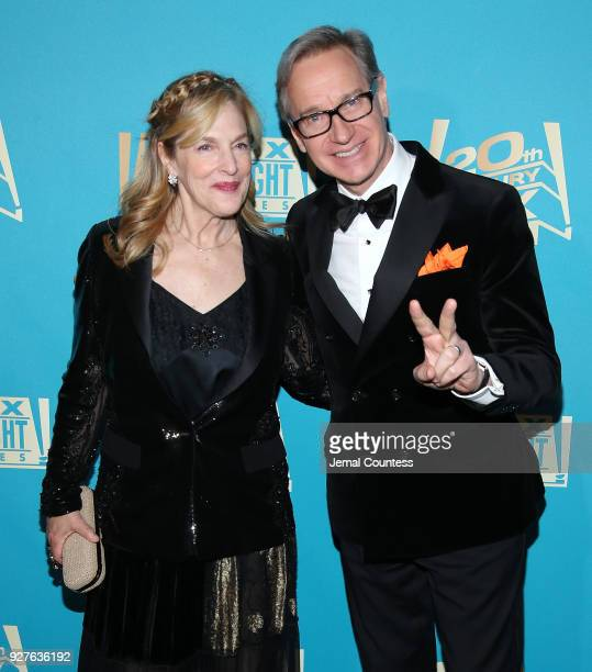 Actor/director Paul Feig and Laurie Feig attend the Fox Searchlight And 20th Century Fox Oscars PostParty on March 4 2018 in Los Angeles California