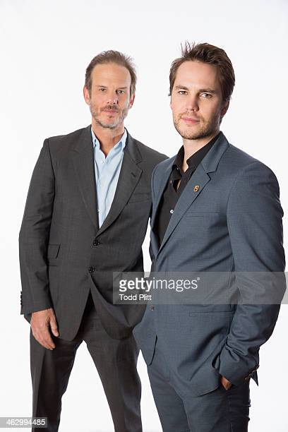 Actor/director Peter Berg and actor Taylor Kitsch are photographed for USA Today on December 5 2013 in New York City PUBLISHED IMAGE