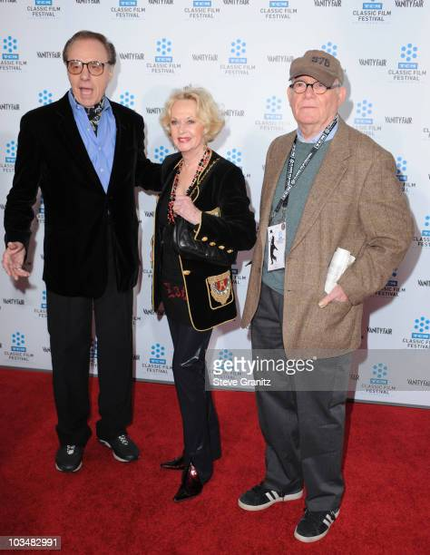 Actor/director Peter Bogdanovich and actress Tippi Hedren and writer Buck Henry arrives at the opening night gala and premiere of the newly restored...