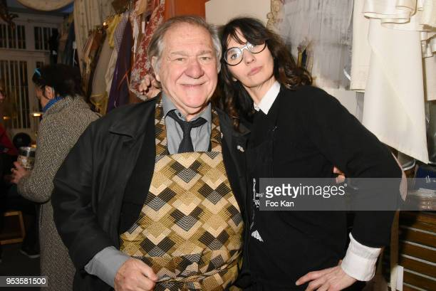 Actor/director Pierre Santini and fashion designer Zelia Van den Bulke attend Zelia Van Den Bulke Aprons show At Zelia Abbesses Shop on May 1, 2018...