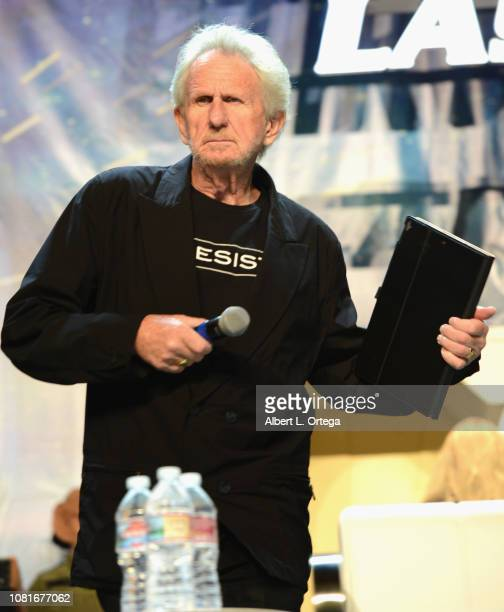 Actor/director Rene Auberjonois speaks at the 'Director's Cut' panel during the 17th annual official Star Trek convention at the Rio Hotel Casino on...