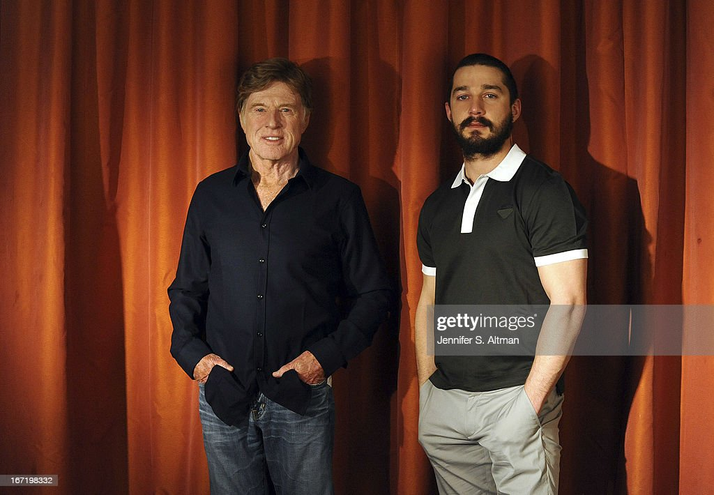 Robert Redford and Shia LaBeouf, Los Angeles Times, April 4, 2013