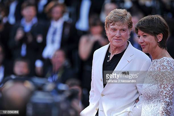 Actor/director Robert Redford and his wife Sibylle Szaggars attend The Company You Keep Premiere at the 69th Venice Film Festivalon September 6 2012...