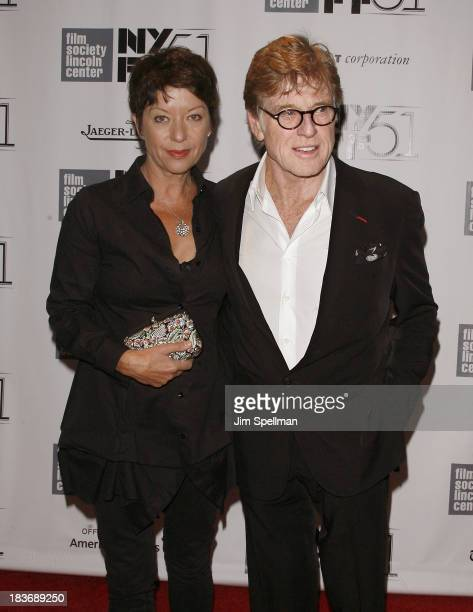 Actor/director Robert Redford and wife Sibylle Szaggars attend the All Is Lost Premiere during the 51st New York Film Festival at Alice Tully Hall at...