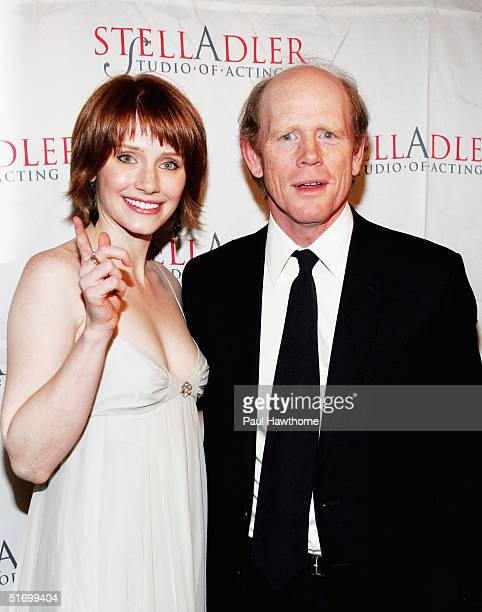 Actor/director Ron Howard and daughter Bryce attend the Stella by Starlight gala at The Pierre hotel November 8, 2004 in New York City.