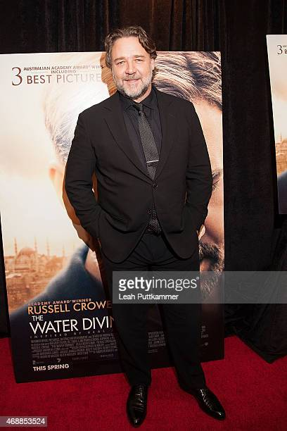 Actor/director Russell Crowe attends 'The Water Diviner' Premiere at Burke Theater at US Navy Memorial on April 7 2015 in Washington DC