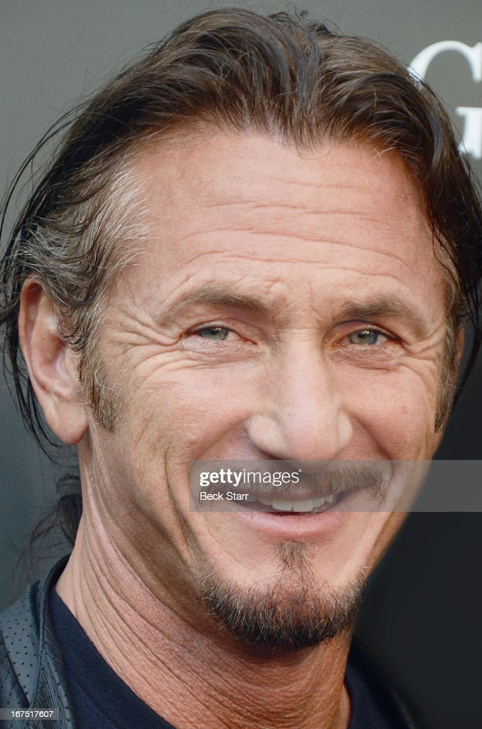 Actor/director Sean Penn arrives at the Giorgio Armani Paris Photo Los Angeles Vernissage opening night party at Paramount Studios on April 25, 2013 in Hollywood, California.