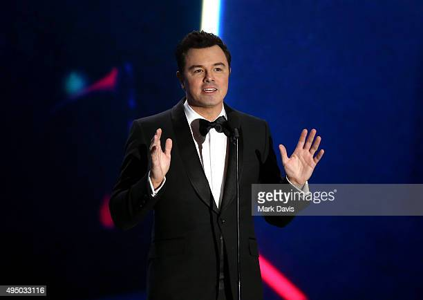 Actordirector Seth MacFarlane speaks onstage during the 2015 Jaguar Land Rover British Academy Britannia Awards presented by American Airlines at The...