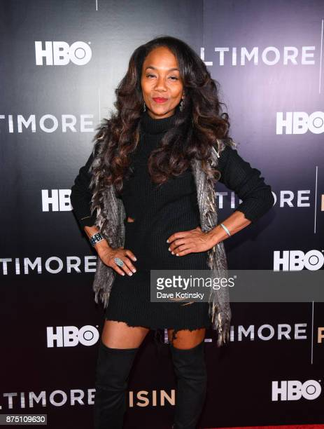 Actor/director Sonja Sohn arrives at the premiere of HBO Documentary Baltimore Rising on November 16 2017 in Baltimore Maryland