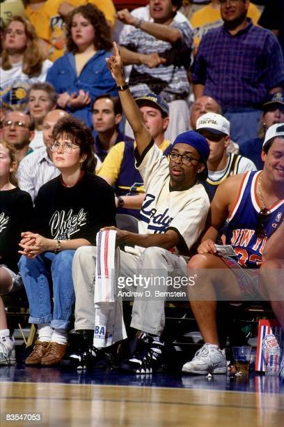 Actor/Director Spike Lee sits courtside rooting for the New York Knicks in Game Six of the 1994 Eastern Conference Finals against the Indiana Pacers...