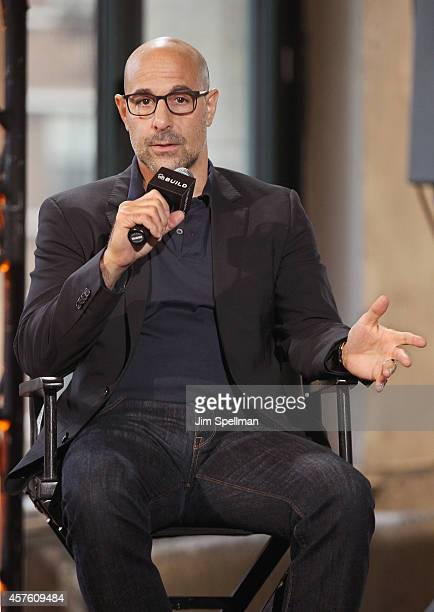 Actor/director Stanley Tucci attends AOL BUILD Series Presents Stanley Tucci Discusses His Cookbook The Tucci Table at AOL Studios In New York on...