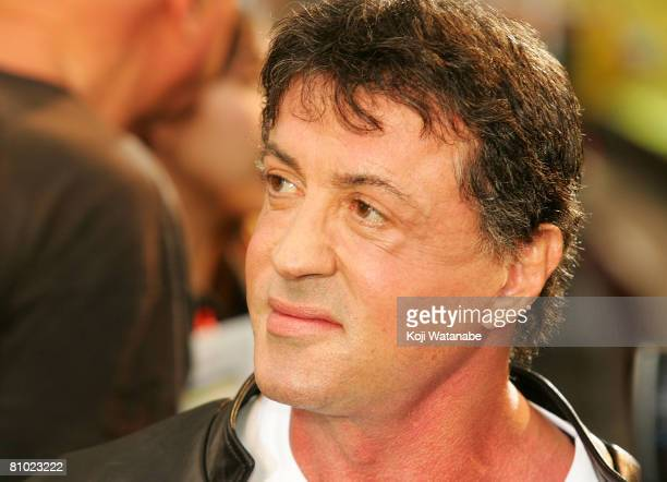 Actor/director Sylvester Stallone attends Rambo Japan Premiere at Roppongi Hills on May 8 2008 in Tokyo Japan The film will open on May 24 in Japan