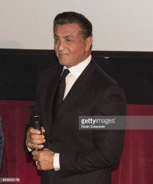 Actor/Director Sylvester Stallone speaks onstage at the 12th Edition Of The Los Angeles Italia Film Fashion And Art Fest at TCL Chinese 6 Theatres on...