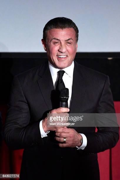 Actor/director Sylvester Stallone speaks onstage during the 12th Edition of The Los Angeles Italia Film Fashion and Art Fest at TCL Chinese 6...