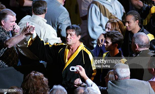 Actor/Director Sylvester Stallone surprised a packed Mandalay Bay Event Center in Las Vegas on December 3 2005 when he entered the arena with cast...